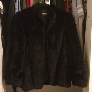 Jackets & Blazers - Faux fur black coat