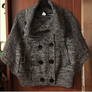 Anthropologie Jackets & Blazers - Anthropologie: Cape/ short batwing sweater Size L