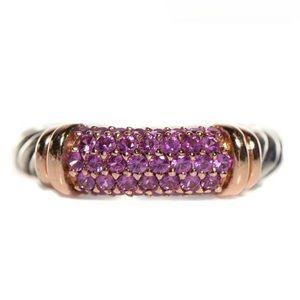 David Yurman Jewelry - David Yurman Pink Sapphire Rose Gold Metro Ring