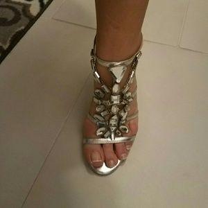 Nina Ricci Shoes - Nina Ricci Crystal Gala Sandals