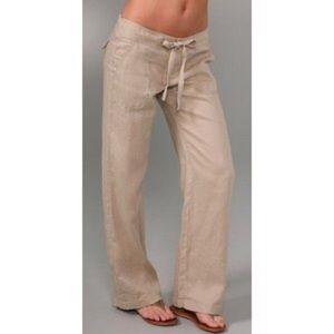 Juicy Couture Pants - Juicy Couture Drawstring Linen Pants