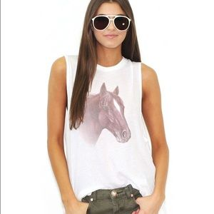 Wildfox horse muscle tank