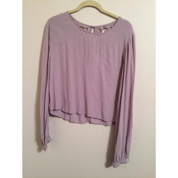 3d50f91edd2cfa Tops | Long Sleeve Lavender Blouse | Poshmark