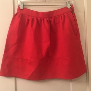 Madewell Red Ponte Skirt