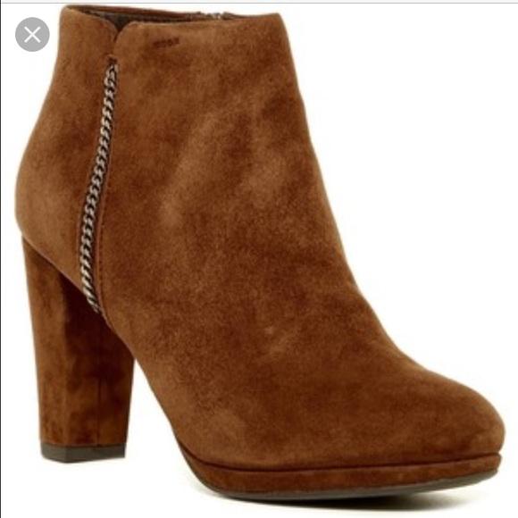 3c01e697ada Geox Shoes | Kali Suede Brown Booties | Poshmark