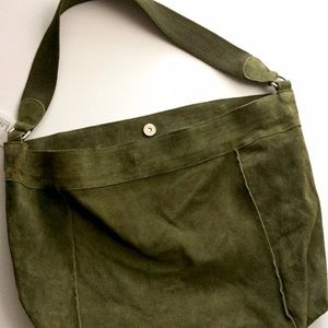 Urban Outfitters Handbags - UO Army green suede hobo tote / bag