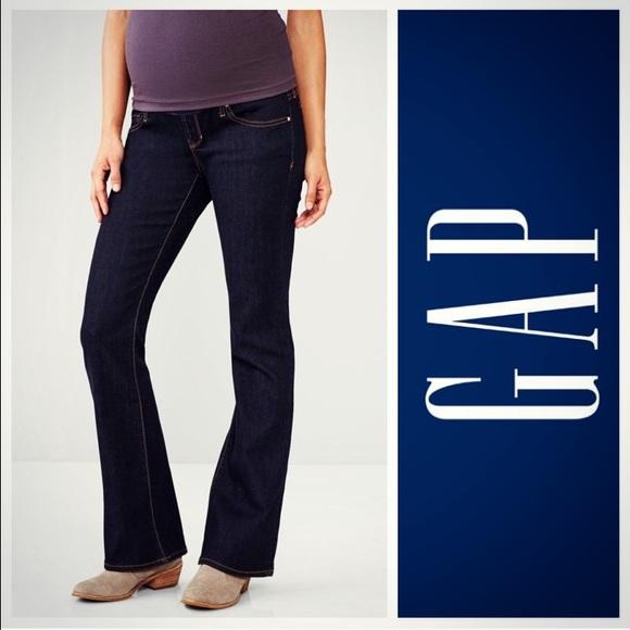 57% off GAP Denim - Gap Maternity Full-Panel Sexy Bootcut Jeans ...