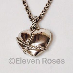 David Yurman Jewelry - David Yurman Cable Wrapped Heart Enhancer Pendant
