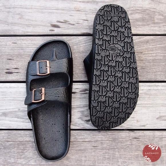 8ff1f9c532f2 Pali Hawaii Buckle Sandals in Black
