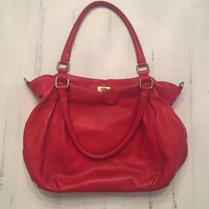 J Crew Red Brompton bag