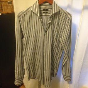 Hugo Boss 15 39 1/2 NWOT dress shirt 100% cotton