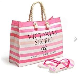Victoria's Secret nwt bag and slippers size large
