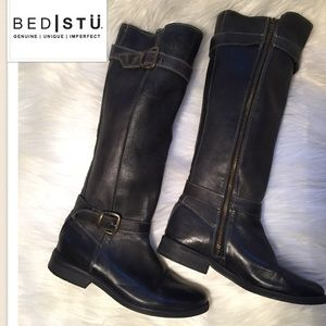 Bed Stu Shoes - Bed Stü Knee High Boots Belts excellent