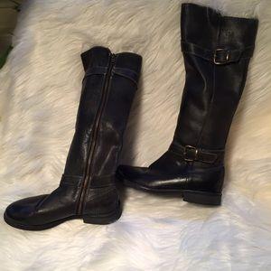 Bed Stu Shoes - Bed Stü Knee High Boots Belts excellent