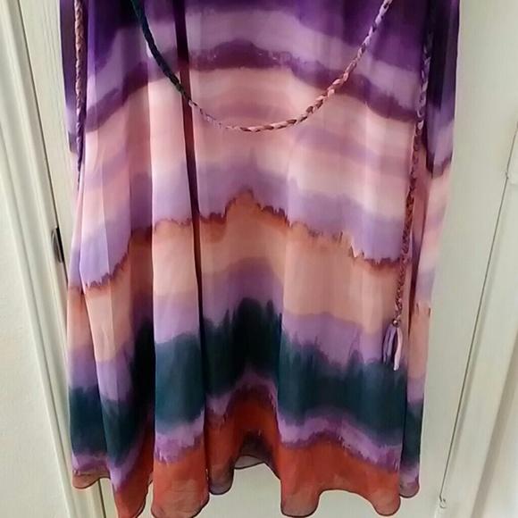 Jessica Simpson Dresses - Jessica Simpson  plus size Jewel Neck Ombre Dress