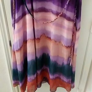 Jessica Simpson Dresses - Jessica Simpson  plus size Jewel Neck Ombre Dress