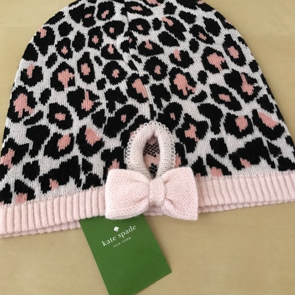 1d64873f8 Kate spade ♠️ beanie hat nwt pink leopard Boutique