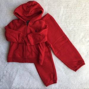 Polo by Ralph Lauren Other - Polo Red Fleece Set size 18 M