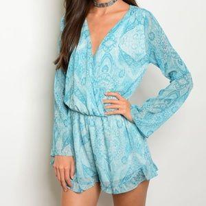 ASOS Pants - *SALE* New beautiful turquoise paisley romper