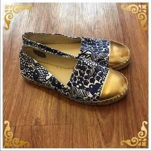 Lilly Pulitzer for Target Shoes - Lilly Pulitzer Espadrilles: blue/gold/white slipon