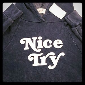 Wildfox Tops - Project social wildfox nice try hoodie