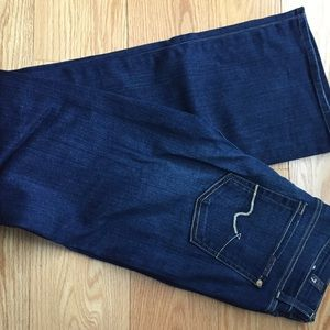 7 for all mankind short inseam bootcut jeans