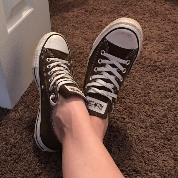 7c751477c28 Converse Shoes - Dark brown converse all stars ✨