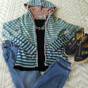 EUC Kirra Blue Striped Jacket. Size M/L