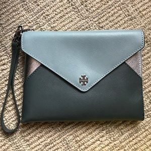 Tory Burch Handbags - Tory Burch Color-Block Large Wristlet