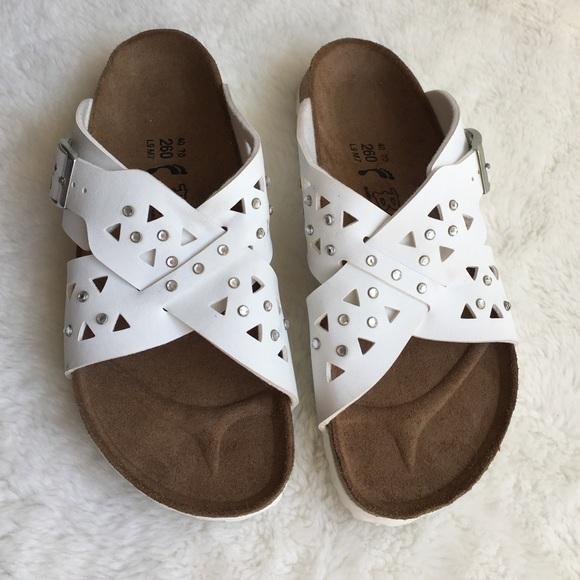 ab3bd3a83f03 Birkenstock Shoes - Birki s by Birkenstock White w  Bling Sandals 9