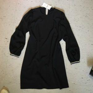 Dress with Gem Sleeves