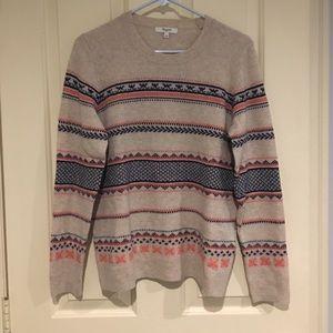 Madewell fairisle sweater
