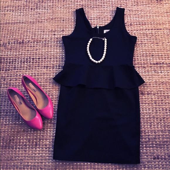 c46165df94fa32 ShoeDazzle Black Peplum Dress. M 5887857f68027884d9009ef3