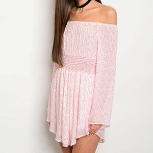 ASOS Dresses & Skirts - *SALE* New pink off-shoulder dress