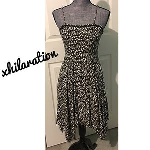 Spring Dress Spaghetti Strap black Tan ivory