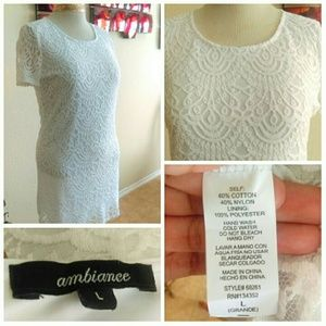 Ambiance Dresses - ⬇White Lace Dress w/ Gold Hardware