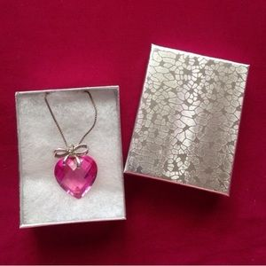 Kay Jewelers Jewelry - Sterling Silver pink crystal heart necklace