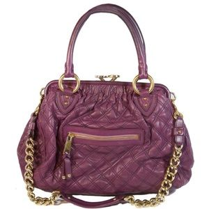 MARC JACOBS Purple Quilted Leather STAM Bag Purse