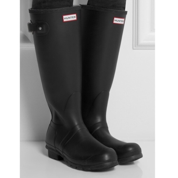 fe21282747a7 Hunter Shoes - Hunter boots original tall. Matte Black. Size 6.