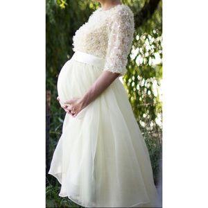 Elie Saab Dresses & Skirts - Yellow maternity dress