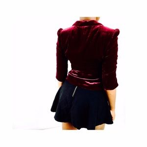 LOFT cropped velvet jacket