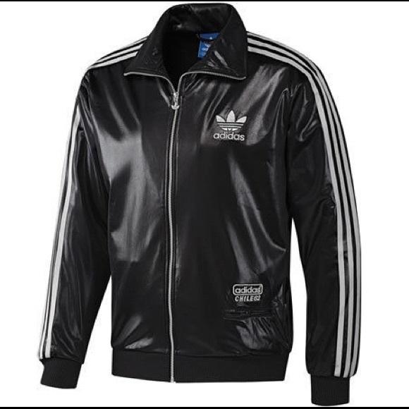 Adidas Jackets   Blazers - Adidas CHILE Sports Athletic Black Track Jacket 108bb42337054