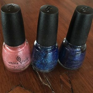 3 China Glaze nail polish