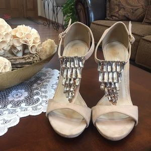 Shoes - Paolo Bacelli Jeweled Faux Suede Sandals
