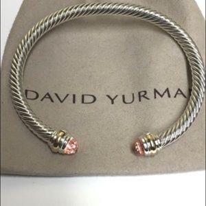 David Yurman Jewelry - David Yurman Morganite Cable Bracelet 5mm