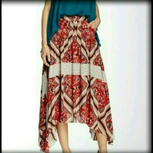 Free People Dresses & Skirts - 🎉NEW FREE PEOPLE 6 Hi Low Red Maxi Skirt