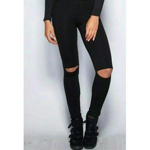 Fashionomics Pants - Open Knee Legging