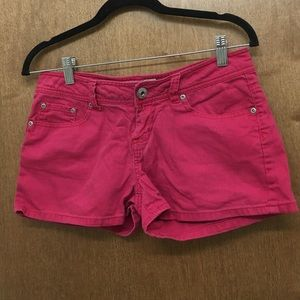 Soffe Denim - 100% cotton pink jeans shorts Size: 7 used