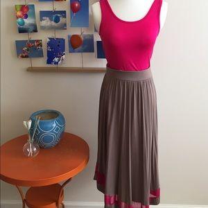 Fuschia/mocha summer dress by Green Envelope!