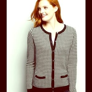 Lands' End Sweaters - LANDS' END🔹SUPIMA COTTON HOUNDSTOOTH CARDIGAN